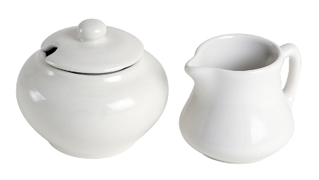 Classic White Sugar and Creamer Set Made in USA