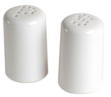Classic White Salt and Pepper Shakers Made in USA