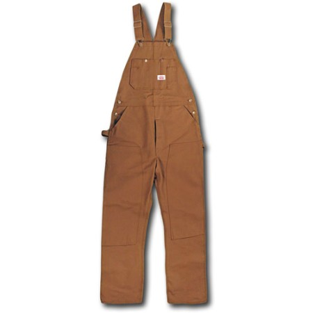 Men's Brown Duck Bib Overalls Made in America