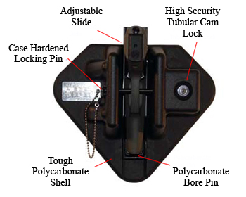 "The Piecekeeper Wall Mounted Gun Lock American Made - <FONT FACE=""Times New Roman"" SIZE=""+1"" COLOR=""#FF0000""> On Sale Now! </font>"