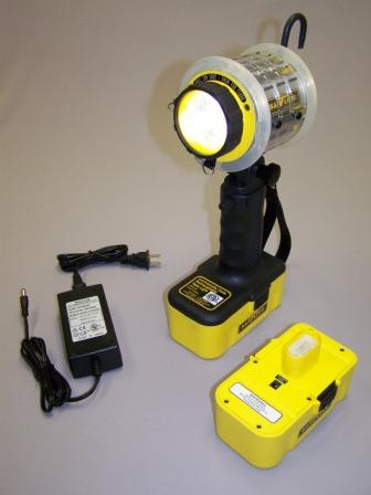 Intrinsically Safe Light, with charger, with Two Battery Packs - American Made