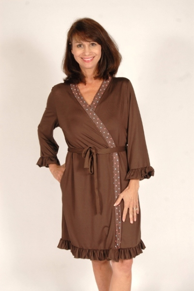 "Ladies Wrap Robe by Goodnighties Made in America <FONT FACE=""Times New Roman"" SIZE=""+1"" COLOR=""#FF0000""> On Sale Now! </font>-"