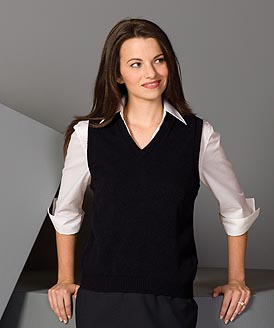 Women's Button Vest Made in USA