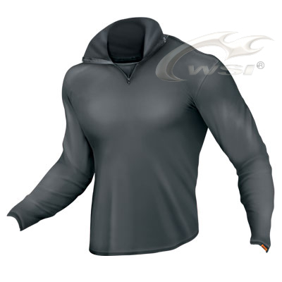 Mens HEATR Zip Top in Black American Made