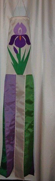 Iris Windsock Made in USA