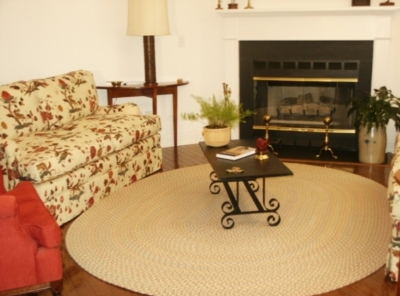 Blossom American Made Braided Rug Made by Rhody Rugs
