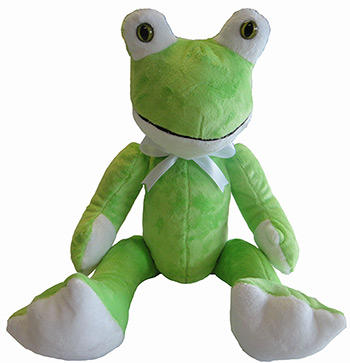 Froggie the Frog Stuffed Animal Toy Made in USA