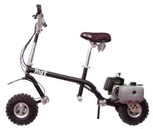 Gas Powered - (Full Suspension/Off Road) Go-Ped Riot, Synister Black