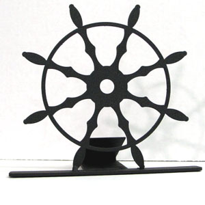 Ships Wheel American Made Door Stop