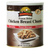 Freeze Dried Chicken Breast Chunks (Real Meat) - Made in USA!