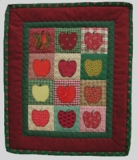 Apple Mini Quilt Made in USA