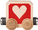 Maple Landmark Timbertoots - Heart - Made in USA
