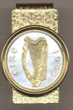 "Irish Penny ""Harp"" (Half dollar size) Money Clip"