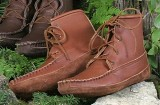 Footskins Men's Walking American Made Boots Canoe Sole Boots