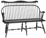 Traditional Settee with Comb - American Made