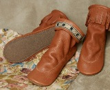 Footskins Deertan Leather Teepee Boots with Rubber Sole