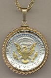 Kennedy half (reverse) (1970 - date)  Necklace - American Made