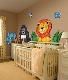 3D Nursery Zoo Animal Wall Murals American Made