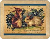 Easter Greetings Puzzle  Made in USA by Maple Landmark
