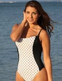 Polka Dot Shaper Bathing Suit Made in USA