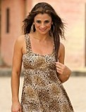 Leopard  Swim Dress Made in USA