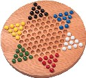 Maple Landmark Chinese Checkers - Standard - American Made
