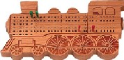 Maple Landmark Cribbage - Train Engine