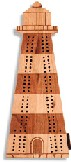 Maple Landmark Cribbage - Lighthouse
