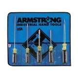 Armstrong 5pc Phillips/cabinet/std square Screwdriver Set Made in USA