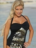 Brazilian Jungle Halter Suit Made in USA