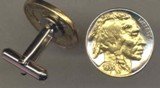 Indian head nickel Cufflinks - American Made