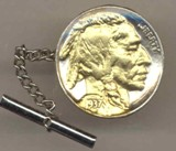 Indian head nickel Tie Tack - Made in America