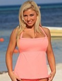 Coral Full Figure Tankini Plus