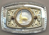 U.S. .Statue of Liberty half dollar (1986) Belt Buckle Made in USA