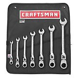 CRAFTSMAN USA Wrench Set, 7pc Locking Flex Ratcheting