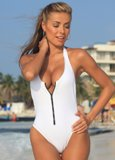Blanco Zip Bathing Suit Made in USA