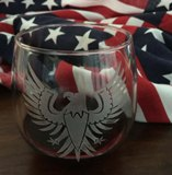 Engraved Stemless wine glass  - Made in USA - Set of 2