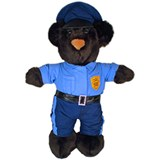Officer Beary  Stuffed Animal  - American Made
