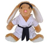 Karate Hoppity Bunny Stuffed Animal Toy