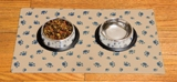 Set of 3 - Cat Bowl Placemats in Tan - Made in America