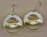 New Jefferson nickel (Peace Medal - 2004) Earrings - American Made