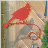 Country North Cardinal Short Scroll Bracket Plant/Windbell Hanger