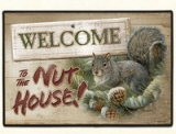 WELCOME TO THE NUT HOUSE Doormat Made in America