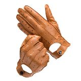 Mens American Made Deerskin Leather Driving Gloves