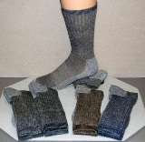 4-Pair Package Special Value Wool Crew American Made Socks