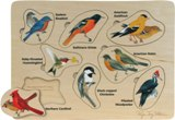 Peterson's Backyard Birds Puzzle Made in USA