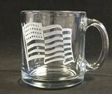Warm Beverage Mug with flag - American Made