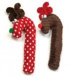 Crinkle Cane Deer Dog Toy Made in USA