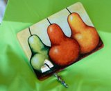 Triple Pears Cutting Board  American Made by Jazzy Artz