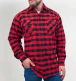 Red Black Flannel Shirt Made in USA